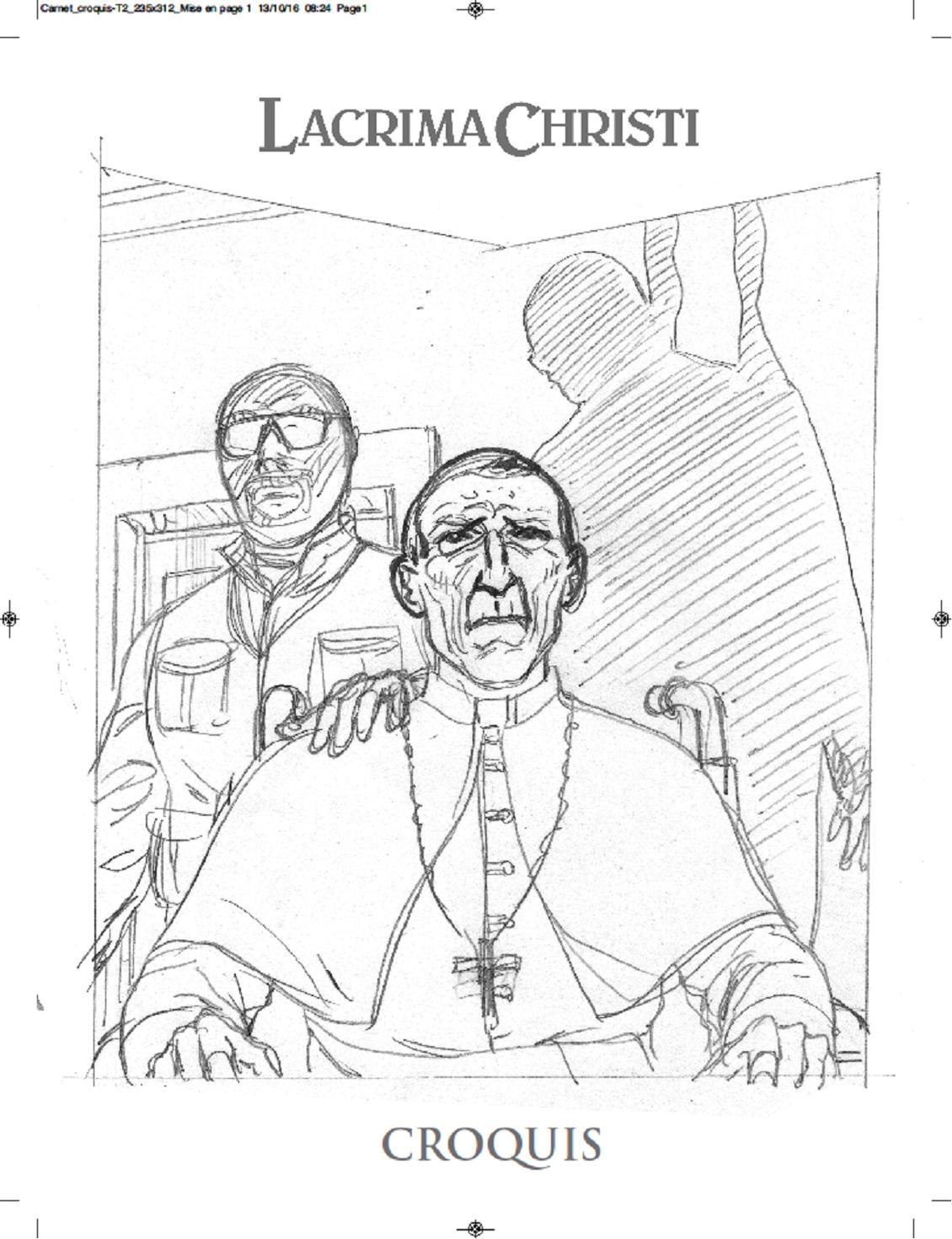 Carnet de croquis de Denis FALQUE pour le Tirage de Luxe LACRIMA CHRISTI 2