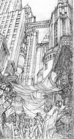 Crayonné d' Eric CHABBERT pour New Byzance tirage de tete