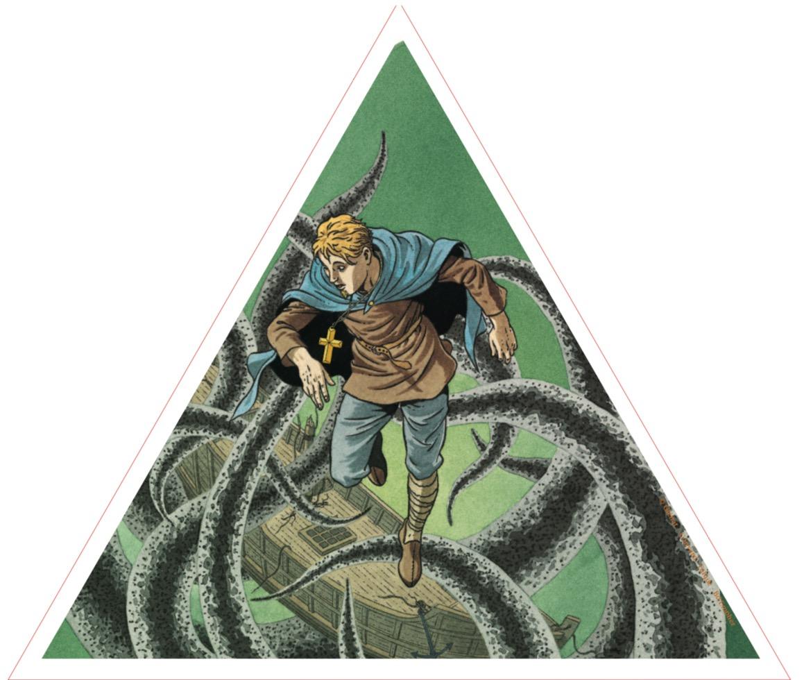 Exlibris dessin d'André Juillard Tirage de Luxe LACRIMA CHRISTI