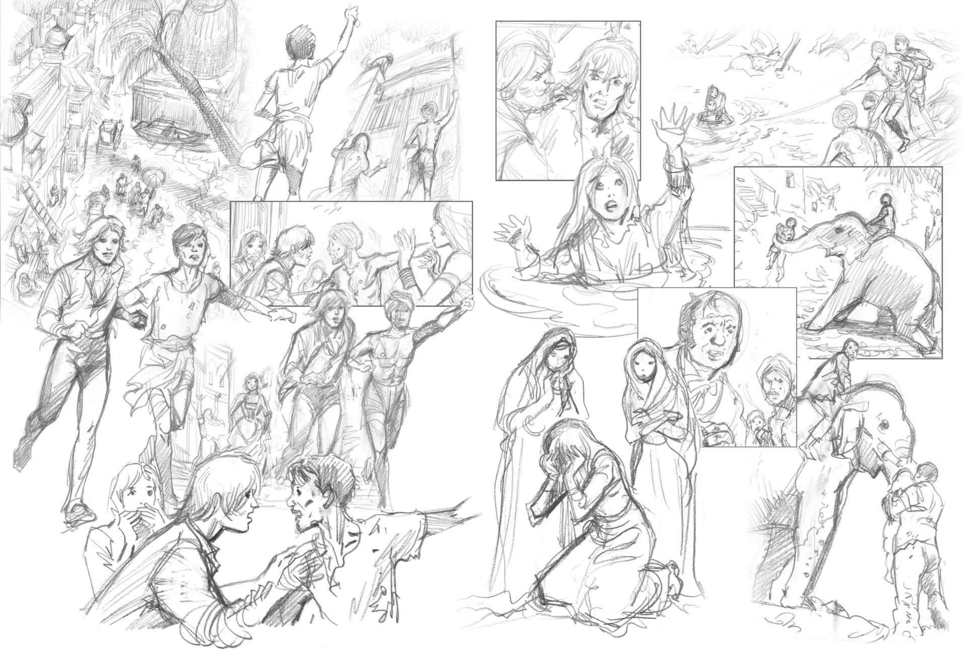 Page du carnet de croquis india dreams tome 9
